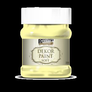 Dekorfesték lágy 230 ml sárga
