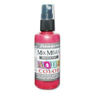Mix média Aquacolor spray 60ml. - irizáló erős rózsaszín