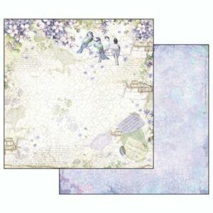 Kétoldalas papír 31,5x30 cm Virágos ABC