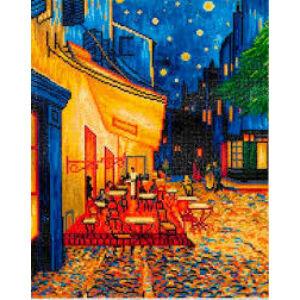Van Gogh: Éjjeli kávézó 52*42cm teljesen kirakható