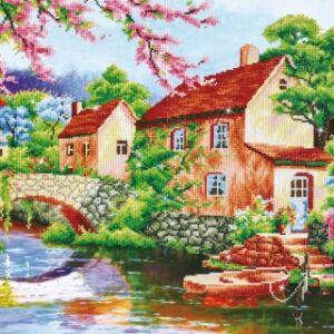 """"""" Ház a folyónál"""" 85*70cm"""