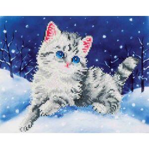 Macska a hóban 28*35,5cm,részben kirakható