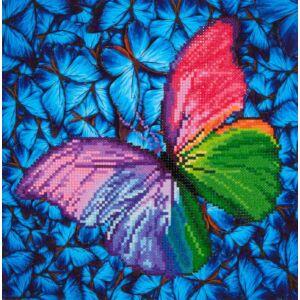 Pink Pillangó 28*35,5cm ,részben kirakható