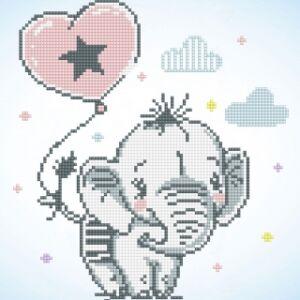 Elefánt bébi 36*38cn