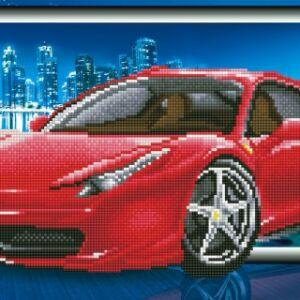 Piros Autó 70*40cm