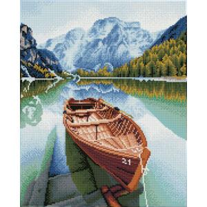 Csónak a vízen 41x51cm Teljesen kirakható