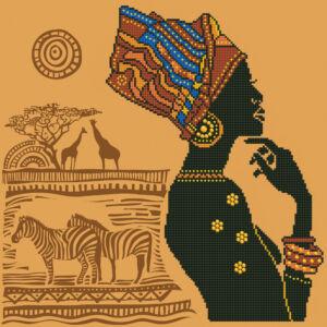 """"""" Afrikai nő"""" 57*57cm"""