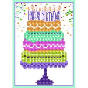 DD Greeting Card Happy - Birthday Cake