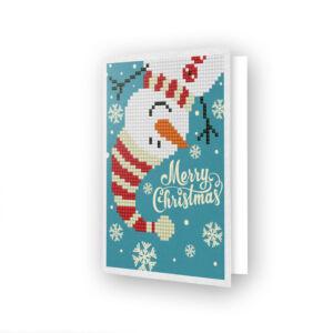 DD Greeting Card MERRY CHRISTMAS SNOWMAN
