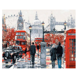 On the streets of London(40x50CM)