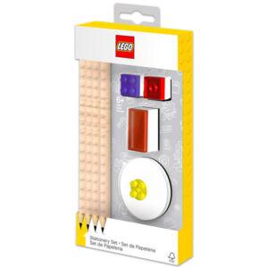LEGO írószer készlet - 4 db grafitceruza, 2 Topper, 1 db hegyező és 1 db radír