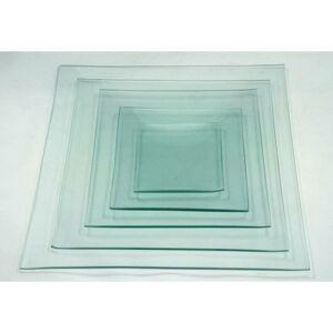 Üvegtál négyszögletes 10x10 cm-es