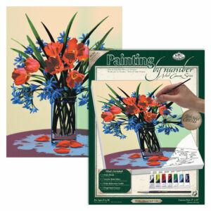 Számozott kifestő - Virágcsokor