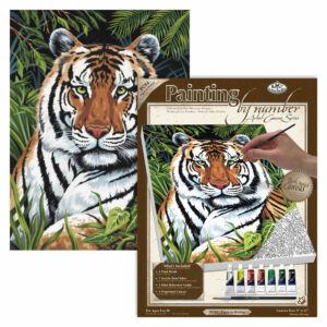 Számozott kifestő, 229*305*19mm - Tigris