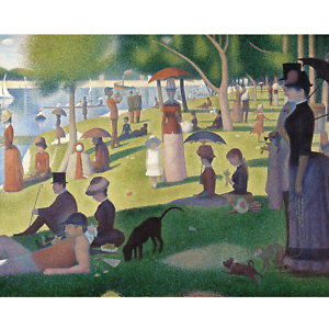 Mester kifestő ,Georges Seurat:Vasárnap délután a Grande Jatte szigeten (Feszített Vászon)
