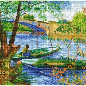 """Van Gogh: """"Horgászás tavasszal"""" 58*48cm teljesen kirakható"""