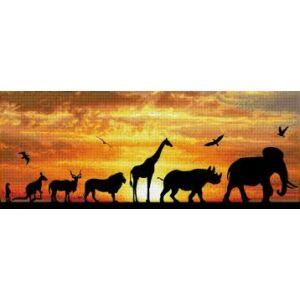 Afrikai ég 72x22cm
