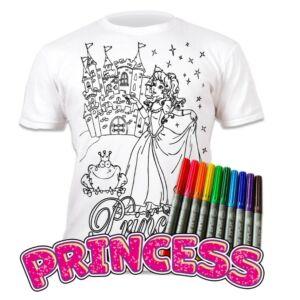 Színezhető pólók -Hercegnő, korosztály 9-11