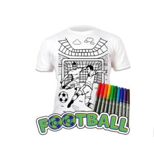 Színezhető pólók -Football, korosztály 3-4
