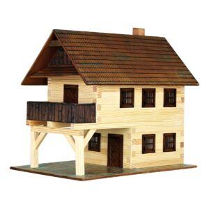 Ház építős játékok fából - Városház makett