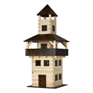 Fa építős játék - Torony modell