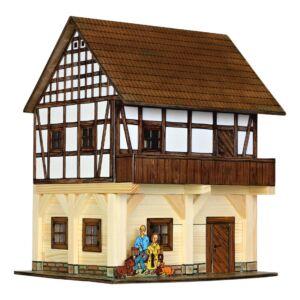 Fa építős játékok - Magtár faház makett