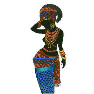 Afrikai hercegnő 60*84cm