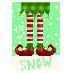 DD Greeting Card - LET IT SNOW