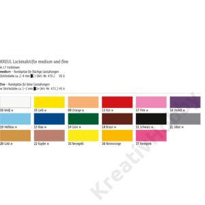 Lakkfilc C.Kreul 2-4 mm neon narancs