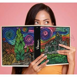 Colorvelvet gyűrűs könyv/Dragon