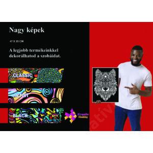 Colorvelvet bársonykép 50x70 cm/Wolf
