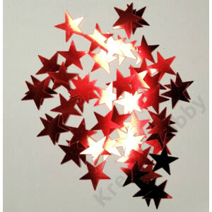 Konfetti piros,Csillag 40g. kb.200db/cs