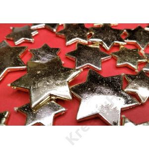 Csillag asztali szóró dísz 24 db arany