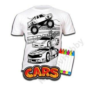 Színezhető pólók -Autók, korosztály 5-6