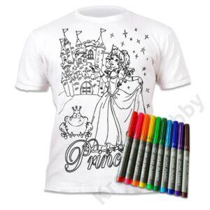 Színezhető pólók -Hercegnő, korosztály 5-6