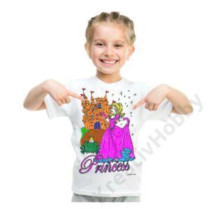 Színezhető pólók -Hercegnő, korosztály 7-8