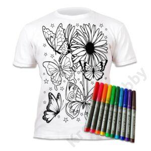 Színezhető pólók -Pillangók, korosztály 5-6
