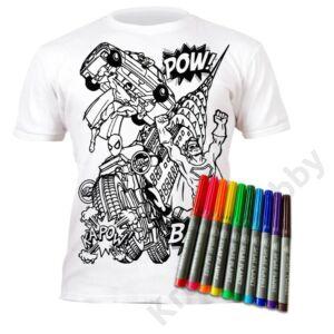 Színezhető pólók - Szuperhős, korosztály 3-4
