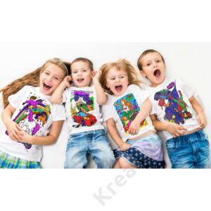 Színezhető pólók -Szuperhős, korosztály 5-6