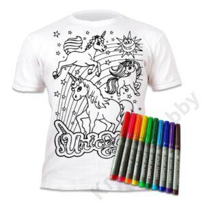 Színezhető pólók -Unikornis, korosztály 3-4