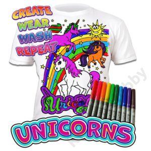 Színezhető pólók -Unikornis, korosztály 7-8