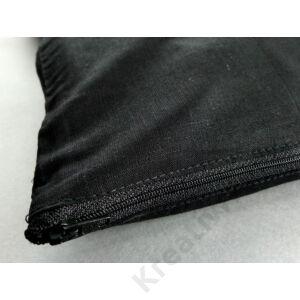 Díszpárnahuzat 40 x 40 cm, fekete