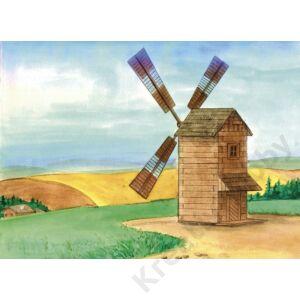 Fa építkezős játék - Szélmalom