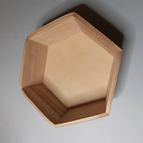 Kínáló, hatszög 21 x 24 x 6,5 cm