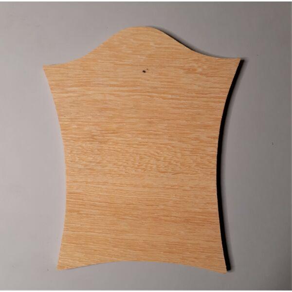 Fa házszám, felül íves, sarkos 13,5 x 17 cm