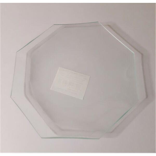 Fóliázott üveg 3mm, nyolcszög, 15-ös