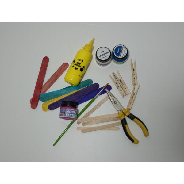 CreArt spatula, színes 11,5*1cm 50db/cs