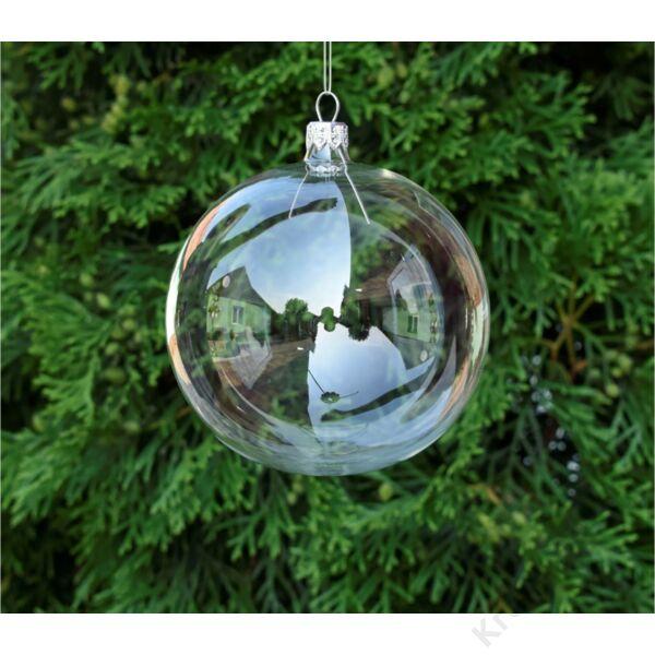 Átlátszó üveg gömb 8cm