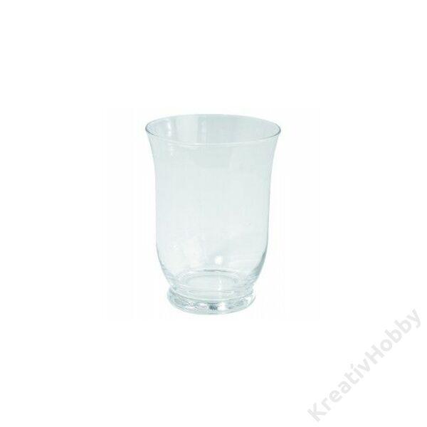 gyertyatartó üveg 11cm