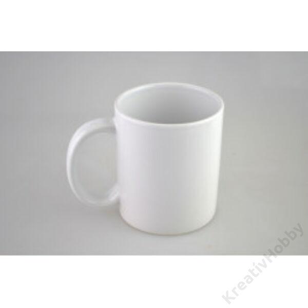 Porcelán bögre, fehér 3,2dl